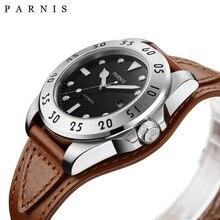 PARNIS 43mm Reloj Mecánico Automático Hombres reloj hombre automatico Fecha Luminoso 100 M Masculinos Reloj de Los Hombres Reloj Mecánico Automático