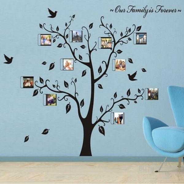 ᗑ】Maaryee 100*130 cm Nuestra Familia es para siempre árbol fotos ...
