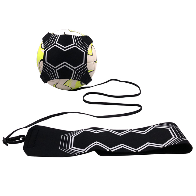 Football Trainer Kick Soccer Training Assistance Adjustable Futbol Luminous Fluorescent Exercise Fit Night Glowing Belt Ball