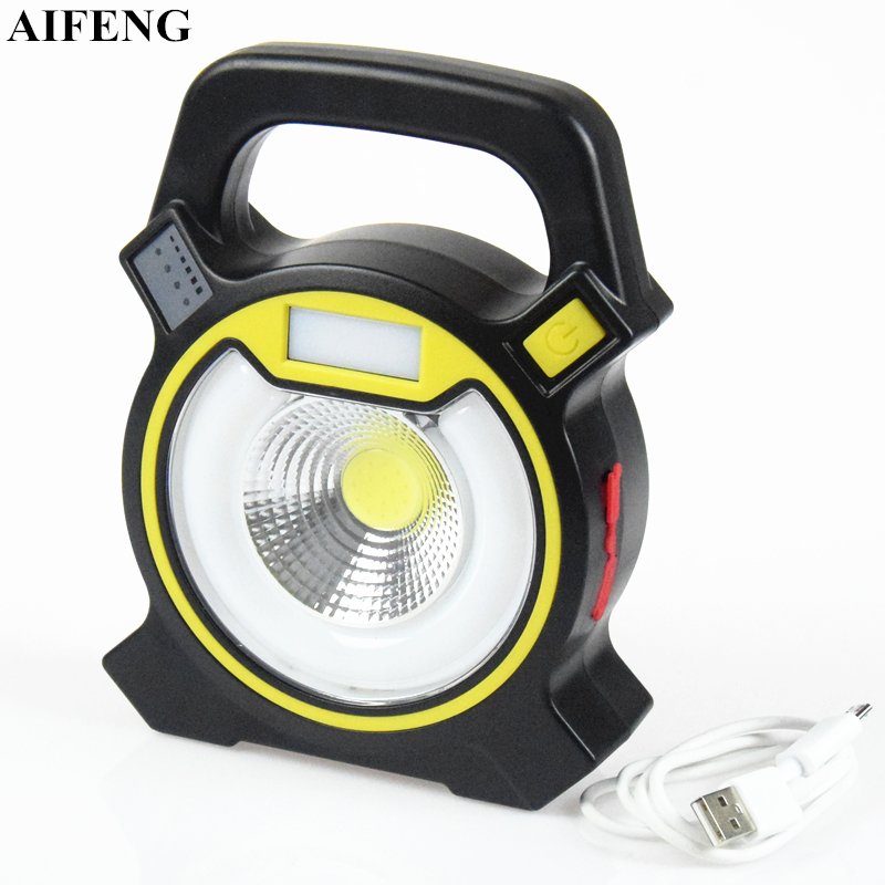 AIFENG 30W Led Portable Spotlights Lantern Searchlight 18650 Battery Operated USB Rechargeable Handheld Camping Lamp Work Lights high power led searchlight lantern built in battery handheld portable flashlight torch rechargeable waterproof hunting lamps