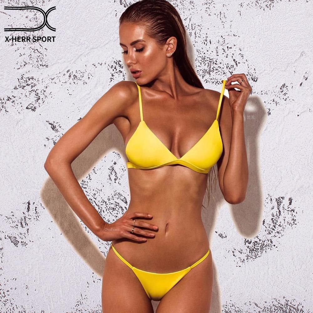 X HERR Bottom Brazilian Bikini 6 Color No Underwire With