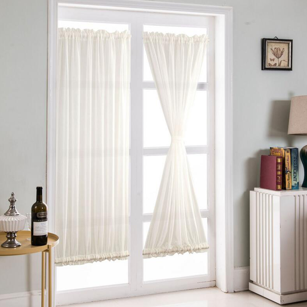 White French Door Curtains Blackout