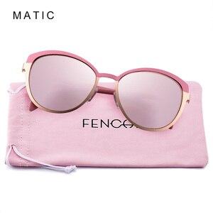 Image 4 - Женские винтажные очки авиаторы MATIC, розовые солнцезащитные очки в стиле ретро с градиентом для вождения, для макияжа, кошачий глаз