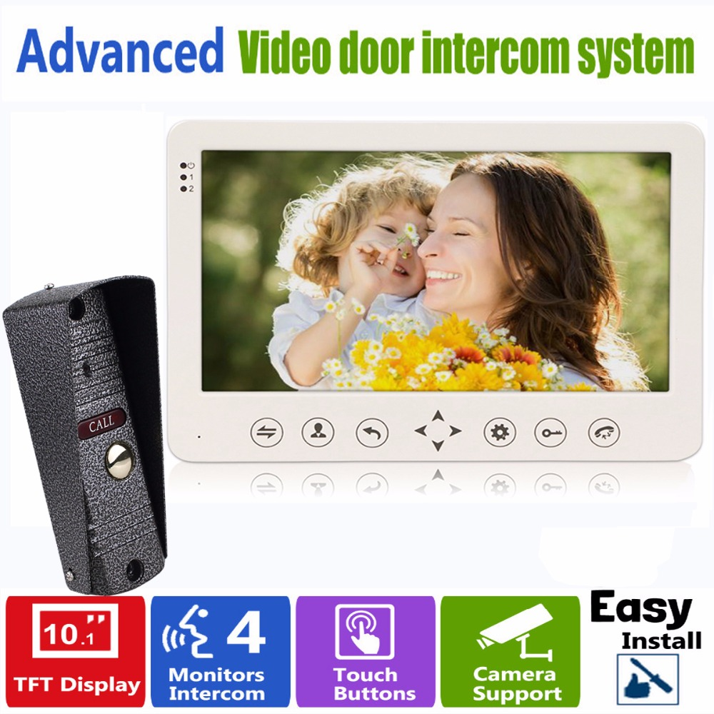 10 TFT Video Intercom Dual-way Door Monitor Video Door Phone Recorder System Supported CCTV Camera & SD/TF Card F1379B nike nike ni464emfnd33