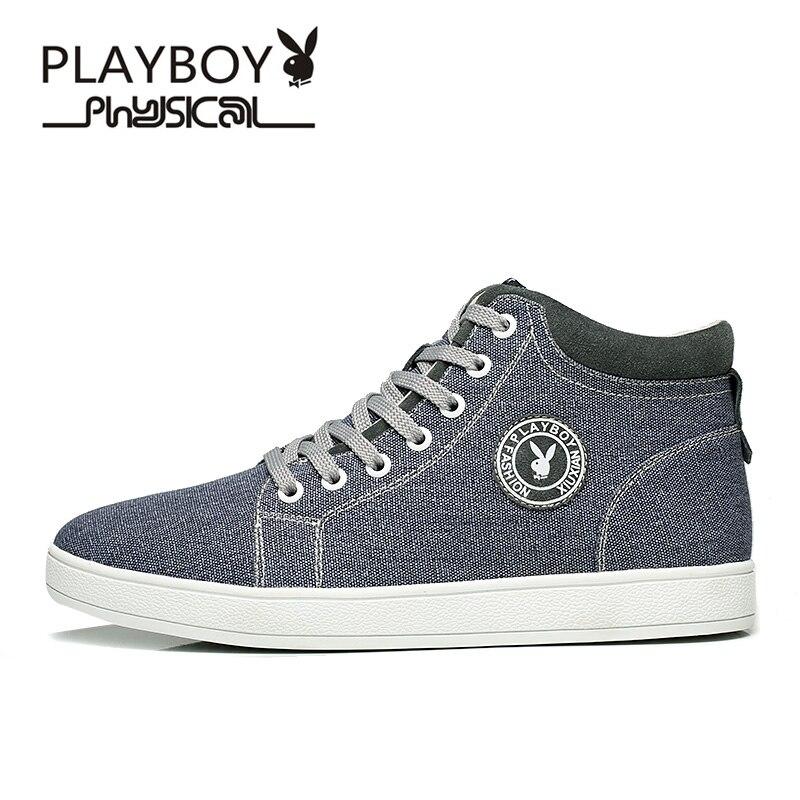 Coton 1 Playboy Ds65099 Khkai Chaussures Nouveau Automne Hiver Cheville Bottes bleu Denim Hommes Britannique rouge Et tdshQrC