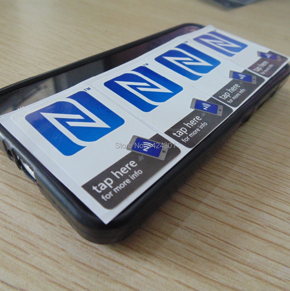 4pcs Nfc Sticker Tag Mark Paster Decals 1356mhz Rfid Tags