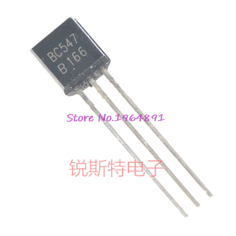 50pcs/lot BC547B BC547 TO-92 0.1A 45V In Stock