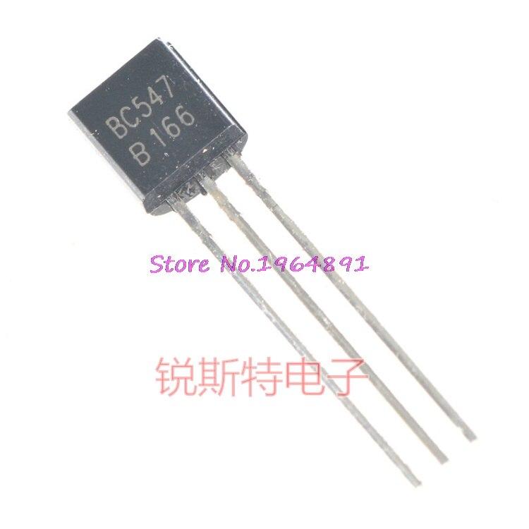 50pcs//set Transistor NPN black BC547 BC547B 0.1A//45V OS