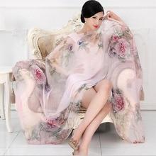 Высокое качество шелк тутового шелкопряда шарф натуральный шелк женские длинные шарфы шаль женский хиджаб обёрточная бумага Летняя Пляжная накидка