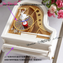 Piano music box of dancing girls Rotation clockwork ballet Music box Romantic valentine's day gift The girl a birth Jia-Gui Luo