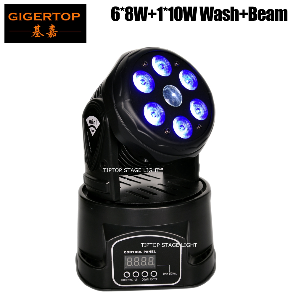 Freeshipping DMX512 100W RGBW Wash Beam Function Compacted Size Led Moving Head Light 6x8W 1x10W Cree RGBW Color Mixing LCD Show freeshipping 2xlot 108 3w rgbw wash led moving head light 24 red 28 green 28 blue 28 white edison led 3w free clamp safety wire