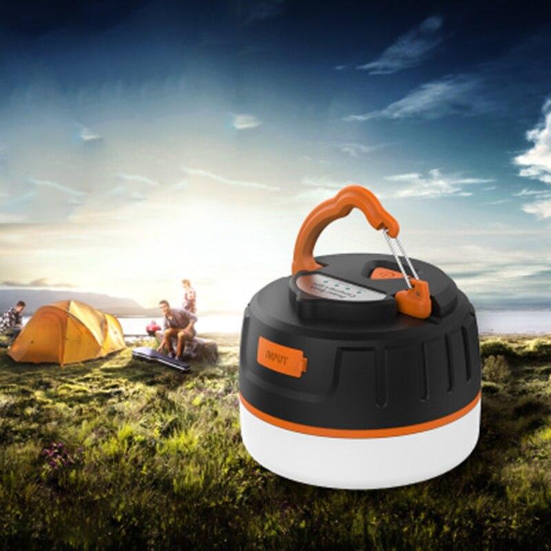 MIni Ultra lumineux 5200mAh Led léger Camping lanternes lumière pour la randonnée Camping urgences portable lanterne batterie externe lampe