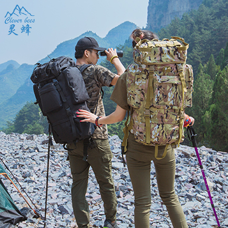Backpack for Big Capacity Backpack Trekking Rucksacks Men Backpacks Camouflage Multifunction Travel Backpack with free shipping