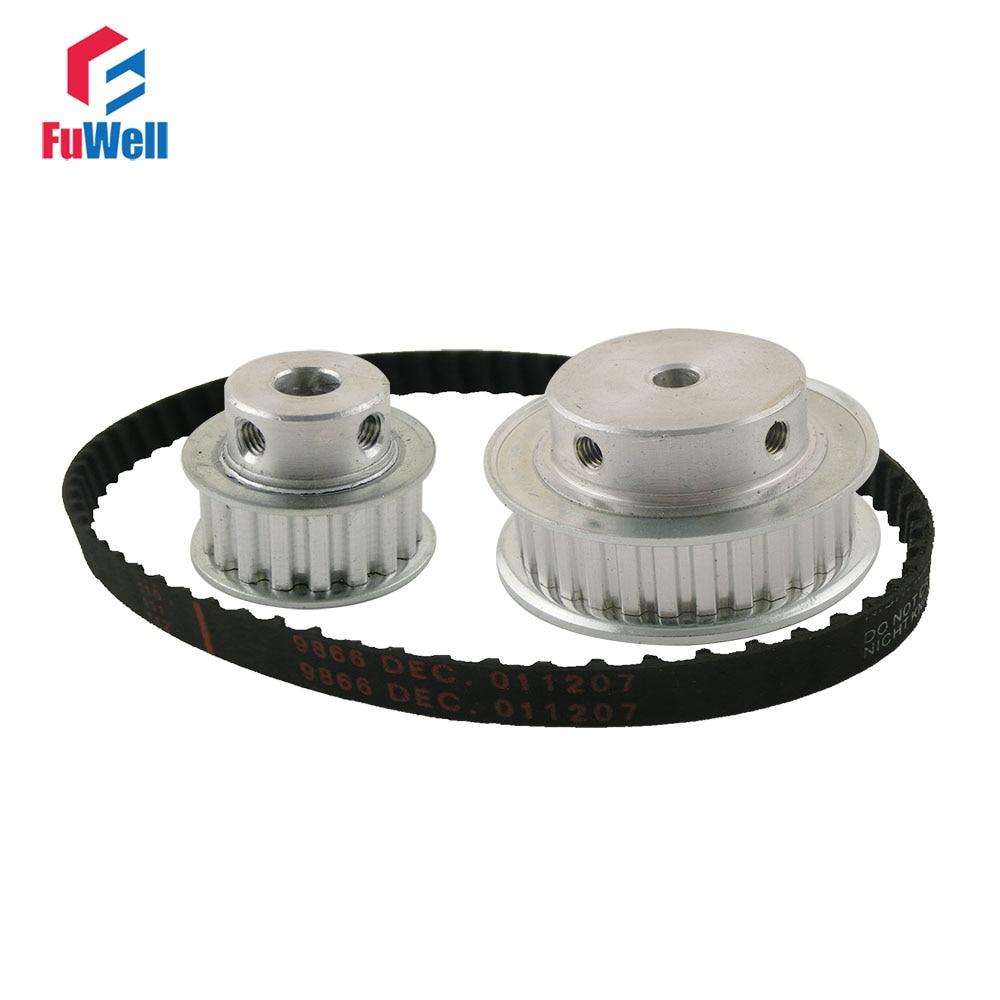XL Reduction Ratio 1:2/2:1 15Teeth 30Teeth Timing Pulley Gear Kit Set Shaft Center Distance 100mm 124XL Belt Timing Belt Pulley все цены