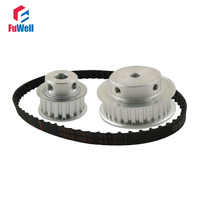 XL Reduction Ratio 1:2/2:1 15Teeth 30Teeth Timing Pulley Gear Kit Set Shaft Center Distance 100mm 124XL Belt Timing Belt Pulley
