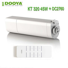 Dooya Automatic Electic Curtain Motor KT320E/45W,Curtain Motor+Dooya DC2760 2 Channel Emitter Remote Controller for Smart Home