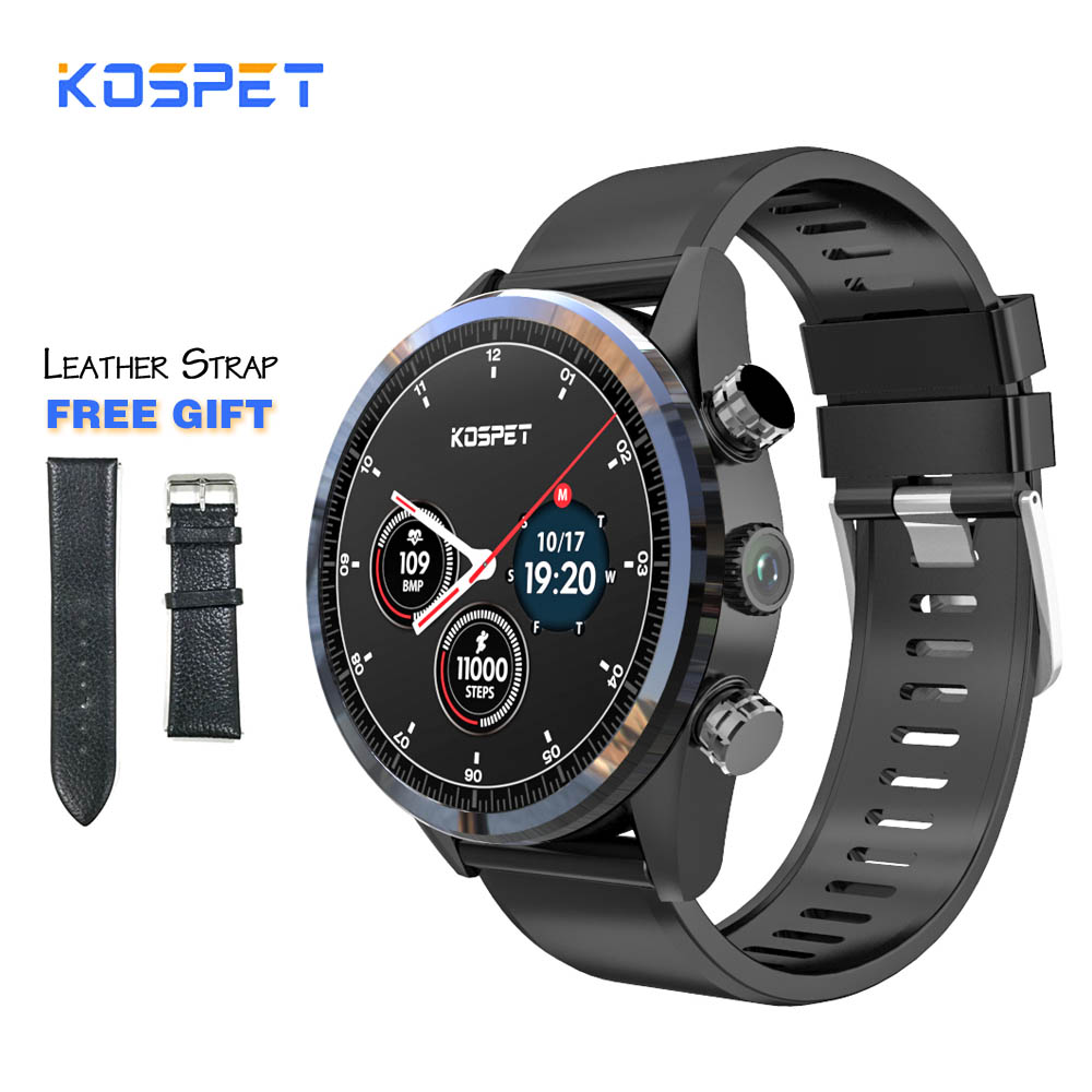 KOSPET Hope 3GB 32GB Android 7 1 1 1 39 4G Smartwatch Men IP67 Waterproof MT6739
