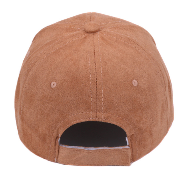 Plain Suede Back Strap Casual Dad Hat for Men and Women
