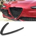 Углеродное волокно передняя решетка сетка рамка Крышка для Alfa Romeo Giulia База Спорт Quadrifoglio Седан 4 двери 2016-2018