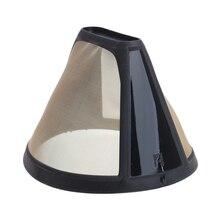 Многоразовый фильтр для кофе 10-12 чашек в форме конуса, машина для приготовления золотых сетчатых ручек