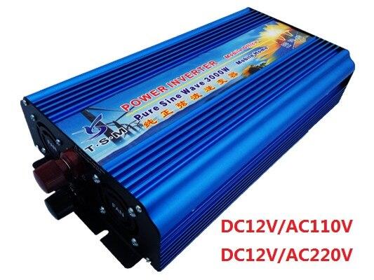 Free shipping off grid 3000w pure sine inverter, power inverter 24v 3000w