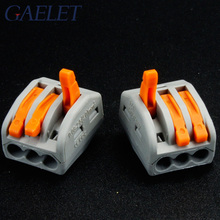 10pcs 3 pin Connector PCT-213 PCT213 222-413 Universal Compact Wire Wiring Conductor Terminal Block Lever AWG 28-12 ZK30 10pcs lot wago mini fast wire connector 222 413 pct213 universal compact wiring connector 3 pin conductor terminal block