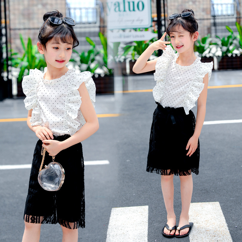 2018 Infant Toddle Baby Girls Clothes Set Summer Casual Outfits Girls Sleeveless White Blouses Shirts + Lace Shorts Costume Sale ...