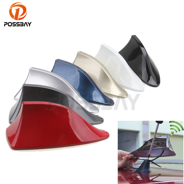 POSSBAY Car Shark Fin Antenna Radio Signal Aerial for BMW Camry Accord SUV Truck Aerial Antenna for Hyundai Radio Antenna