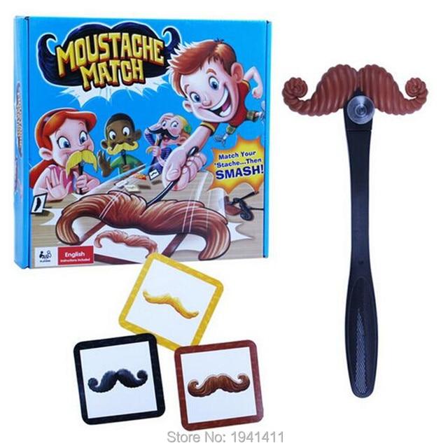 Moustaches Match Moustache Smash Fun Mustache Pass Card Children Family Game