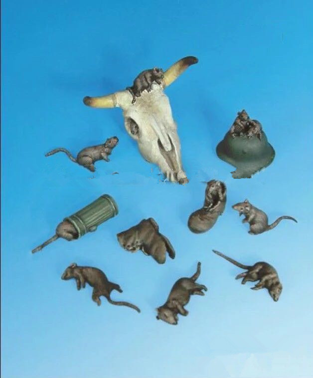 bats Assembly Unpainted Scale 1//35 modern Animals Set figure Historical Resin