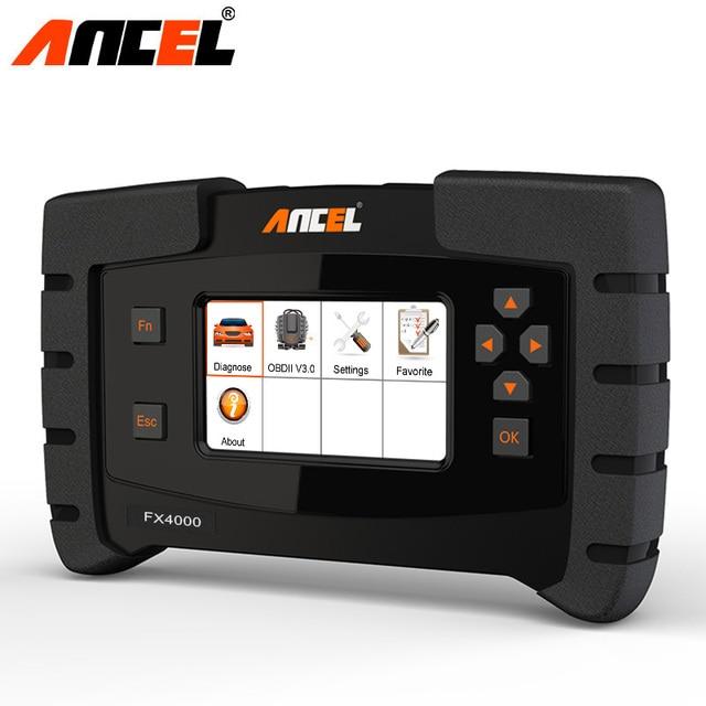 Ансель FX4000 OBD OBD2 полный Системы инструмент диагностики ABS Airbag редуктор масла Услуги сканирования автомобильные сканер бесплатное обновление
