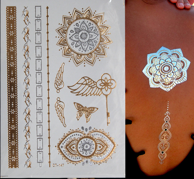 17 Waterproof temporary tattoos stickers sexy romantic dark rose flowers flash fenna tattoos fake body art Tattoo sleeve 5
