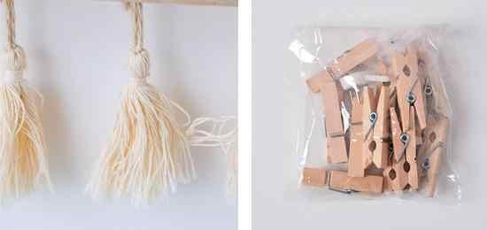 Открытка, фото, отправка, зажимы, деревянная палочка, веревка, настенная вешалка, кисточки, вешалка для детской комнаты, Скандинавское украшение, фотография, ремесло, сделай сам