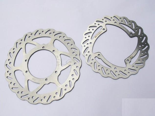 ФОТО front and rear Wave brake disc of  KAYO T4/ MX6  BOSUER  ZHENGLIN  Motocross Enduro Supermotard Dirt Bike