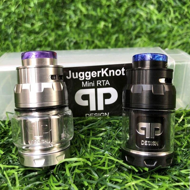 RTA Atomizer QP Mini Juggerknot Style 24mm Rebuildable Vape Tank Top Airflow Coil Design Dual/Single Coil For 510 ECigarette Mod