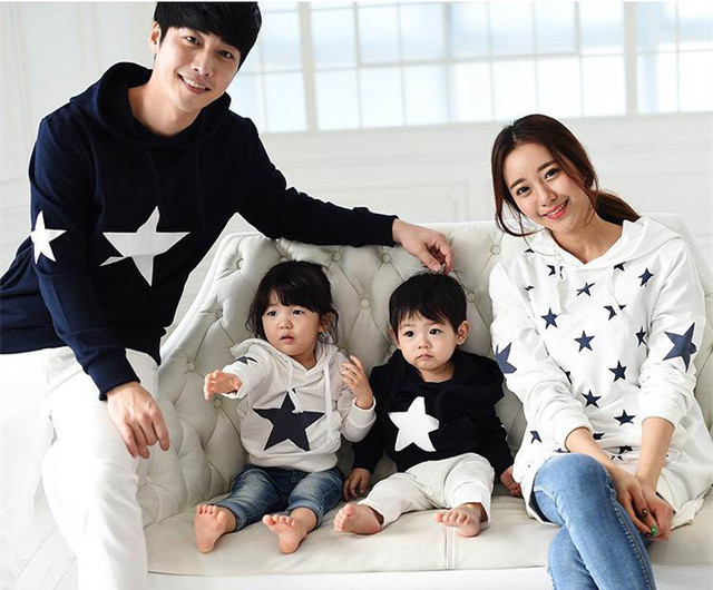 d936a6f1ce1b0 Parent child Outfit Family Hoodies Mother And Daughter Outfit Velvet  Thickening Family Matching Christmas Sweaters AF 1762-in Family Matching  Outfits ...