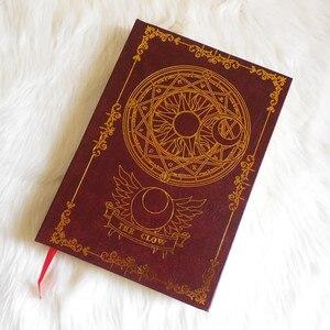 Image 3 - 2 цвета, аниме карта Captor Sakura, экшн фигурка, магический массив, с принтом, волшебный блокнот, дневник, книга, канцелярский журнал, записная книжка