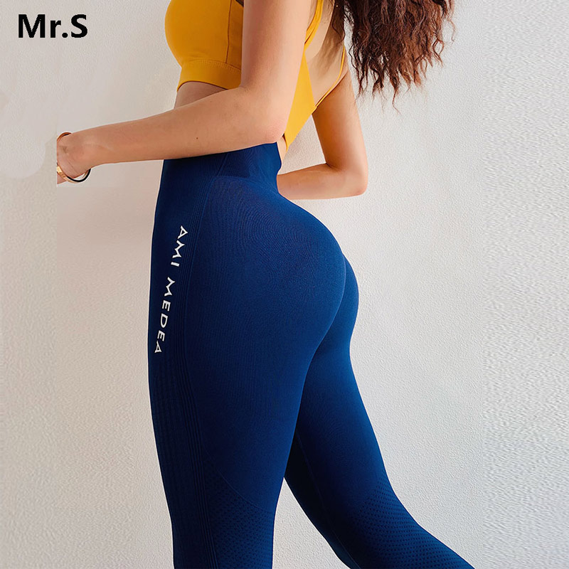 Solid Ombre Energy Seamless Yoga Leggings Sport Women Fitness High Waist Running Pants Compression Gym Tights Workout Leggings