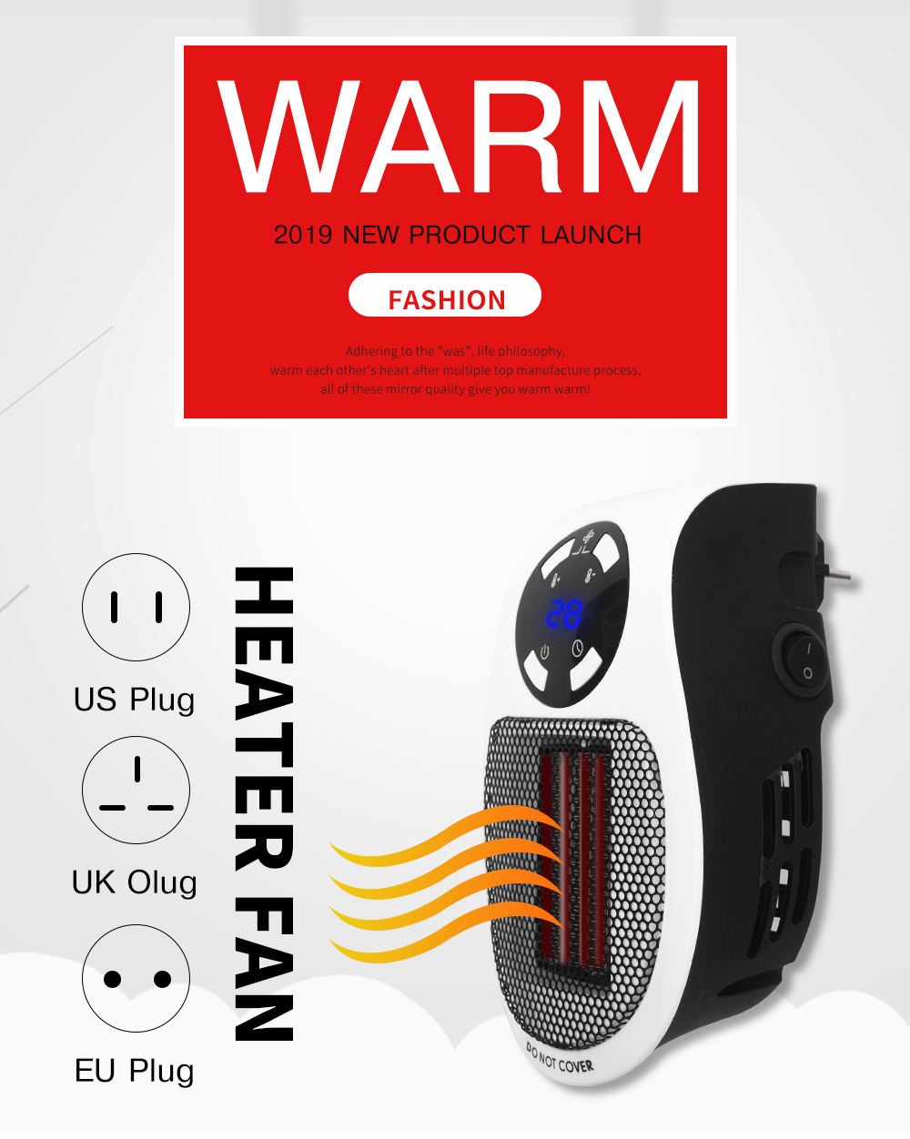 Electric Handy Heater for AD shopper