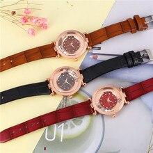Женщины наручные часы простой стиль люксовый бренд 2018 Кожаный ремешок женские часы женские классика часы Relojes Мухер