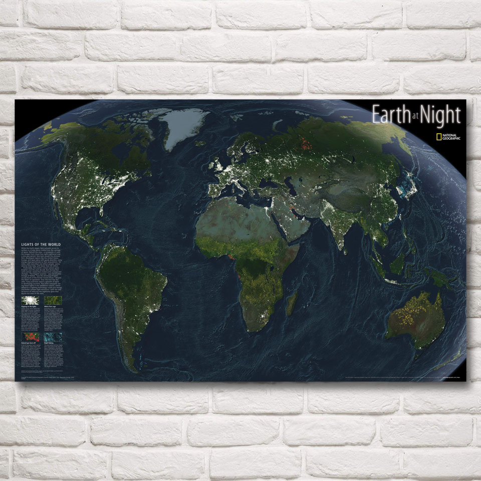 World map national geographic black art silk fabric poster prints world map national geographic black art silk fabric poster prints 12x19 19x30 22x35 30x48 inch home decor pictures free shipping in painting calligraphy gumiabroncs Gallery