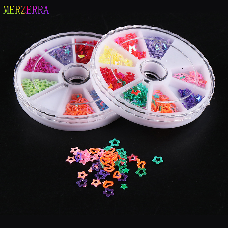 Flake Sequins Light Mix Nail Art Glitter Sequins 8 Color Sets Nail art Decorates DIY Decoration Nail Glitter Manicure Nail Craft