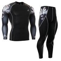 Unisex Ballgame Sports Team Uniform Tech Compression Shirt Pants Set For Men Women Gym Clothes Workout