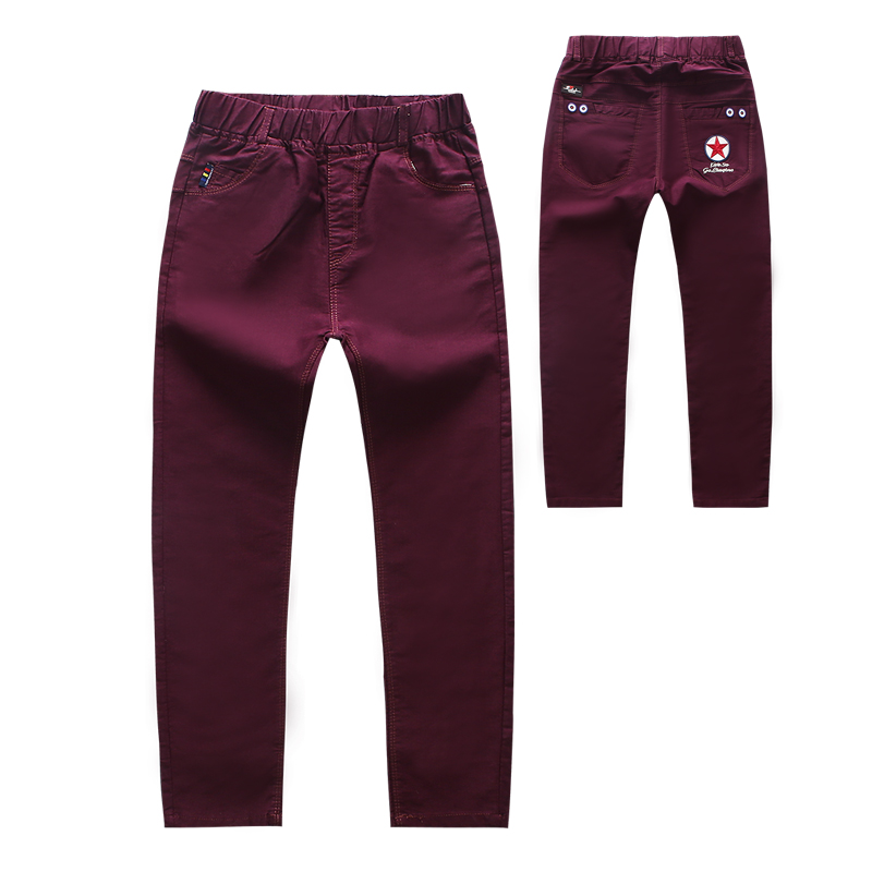 Boys Pants 2018 Spring High Quality Casual Cotton Elastic Waist Pencil Pants for Boys Letter Kids Boys Pants Trousers Clothes boys elastic waist solid pants