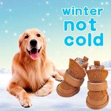 No Slip Dog Cat Winter Shoes Pitbull Chihuahua Waterproof Boots Medium Large Small Size Pets