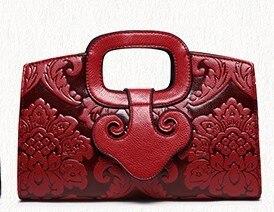 2016 Flower Women Leather Handbags Luxury Women Handbag Famous Brand Female Tote Women Messenger Bag Vintage Women Bag C0504