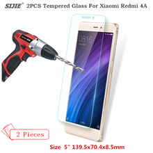 hot deal buy sijie 2pcs/lot tempered glass film for xiaomi redmi 4a screen protect toughened protective film for 4a 5