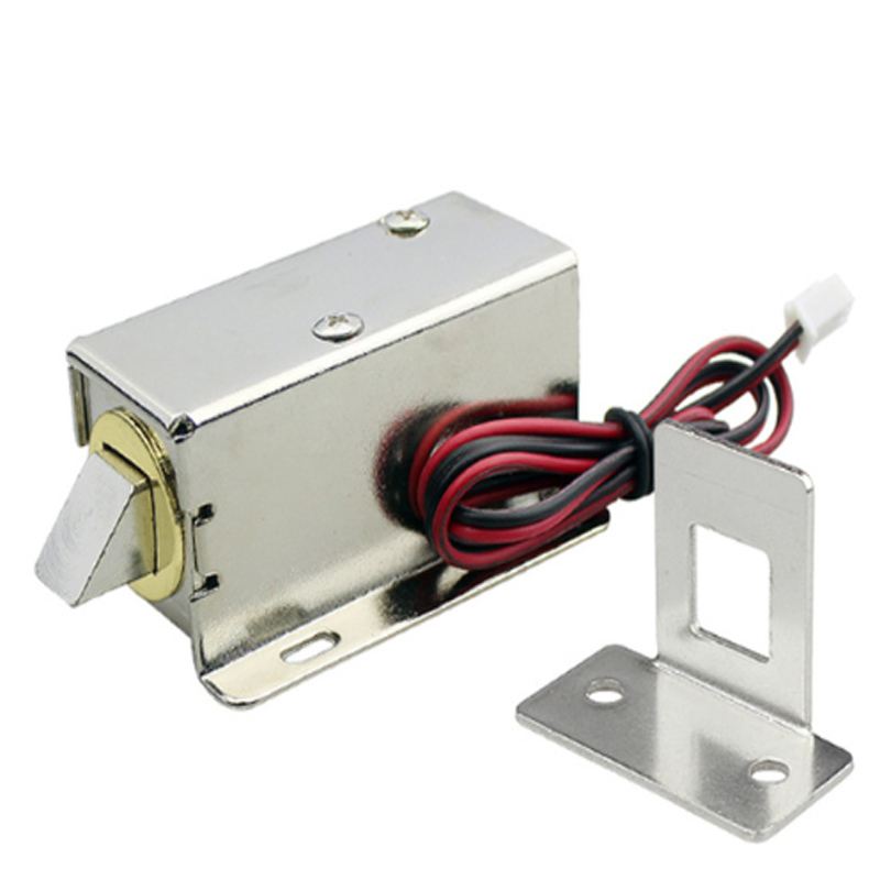 Electronic Lock Catch Door Gate 12V 0.8A Release Assembly Solenoid Access Control