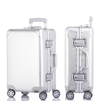 20'24'26'29' 100% Full Aluminum Cabin Suitcase Spinner TSA Koffer Trolley Luggage Business Boading Case valise mala de viagem