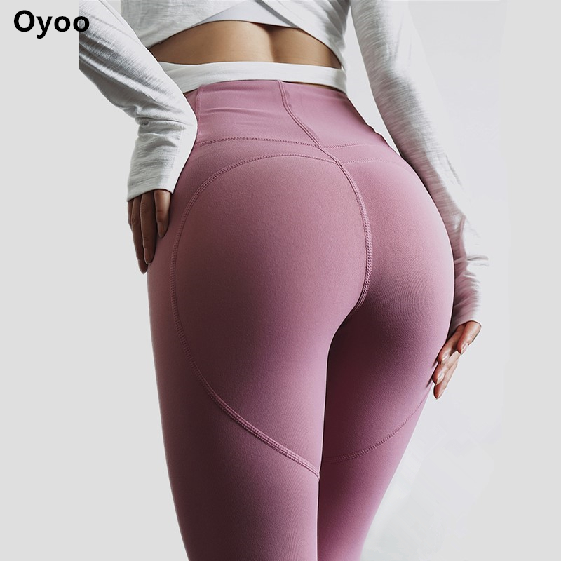 Oyo Herz form booties hohe taille gym leggings rosa yoga hosen sexy push up leggins sport frauen fitness sport strumpfhosen active